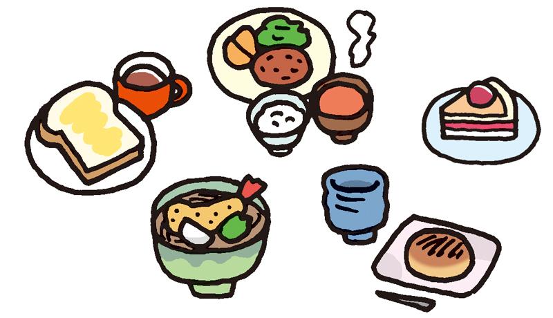 食べ物いろいろ(ウェブ用のカット)